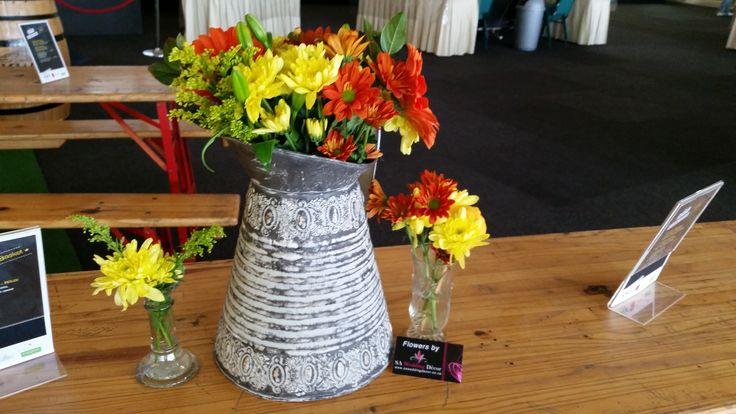 @Decorex2014 KWV Gourmet Market table arrangement