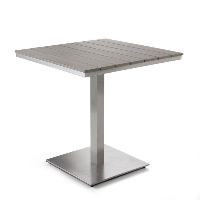 Gartentisch Colon 70x70 Cm Aluminium Holzoptik In 2020