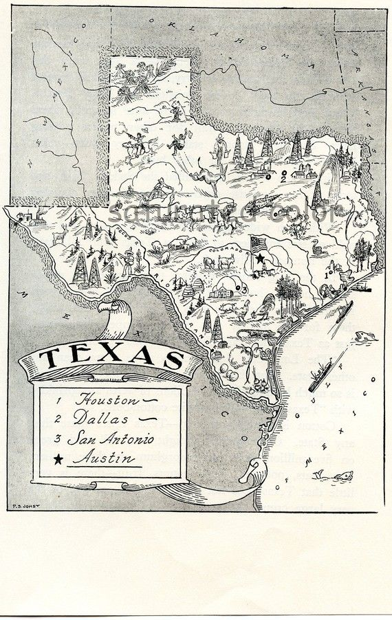 vintage texas map.  Would like to get this to put in our bedroom with all our other Texas stuff!