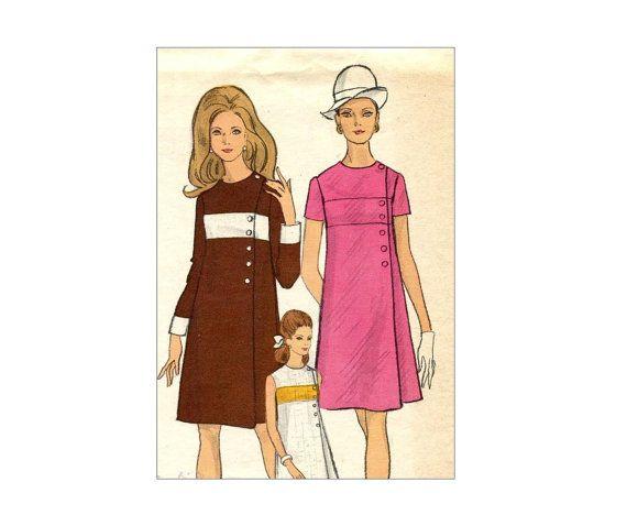 Mod Vogue A lijn jurk Vintage naaien patroon door MaddieModPatterns