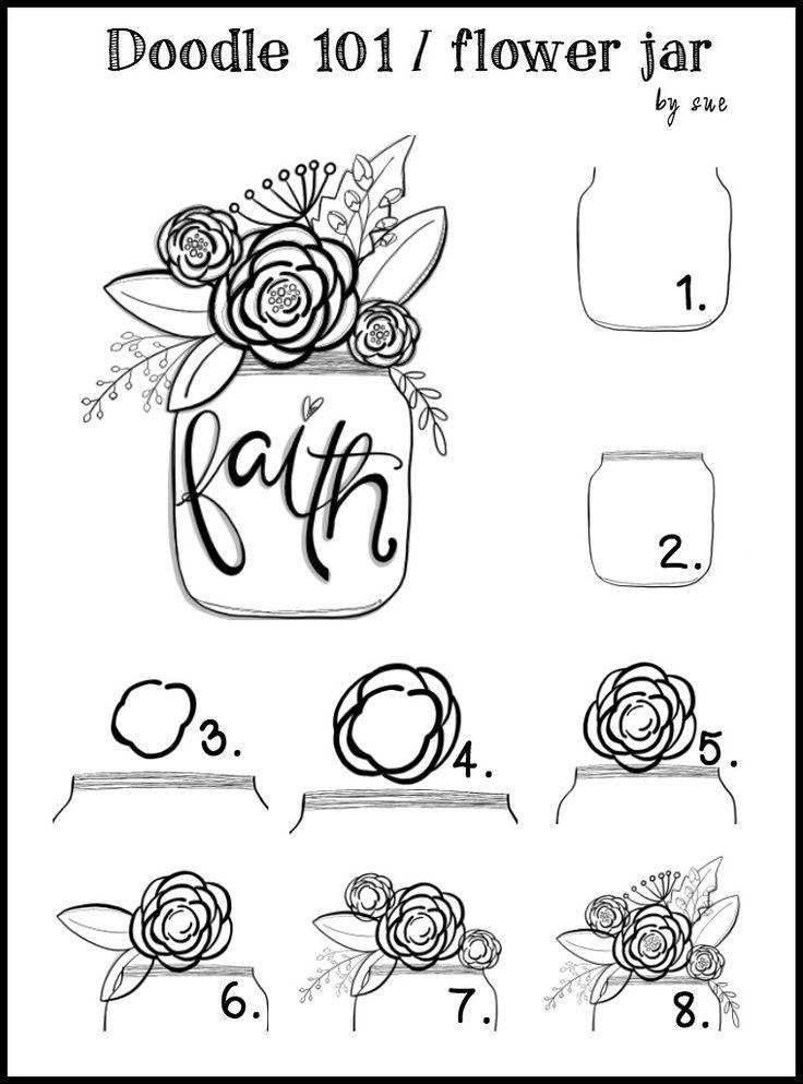 Doodle101:FAITH:Flowerjar:SueCarroll                                                                                                                                                      More