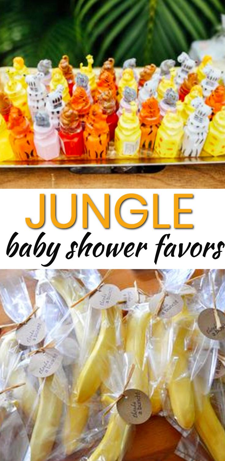 Baby Shower Favor Ideas! The best jungle baby shower favors! Amazing boys baby shower favors as well as the coolest girls baby shower favors. Find gender neutral ideas for your guests at your jungle theme baby shower. From DIY ideas to candles to soap to lotion to candy that are cheap, unique and classy. Find the best baby shower favor ideas now!
