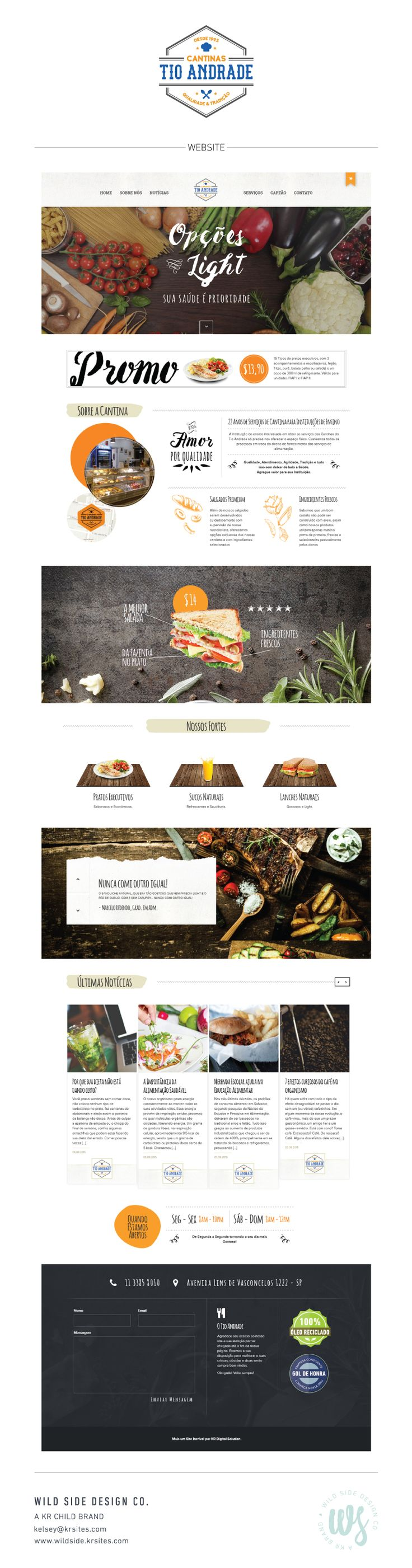 Website Launch | Webdesign | Restaurant Website | Cantinas Tio Andrade Web Design by Wild Side Design Co. | #webdesign www.wildside.krsites.com