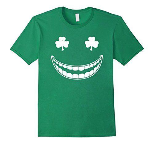 Kids Smile Clovers Shamrock St Patrick's Day Green T-Shirt