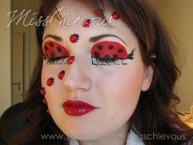 DIY Halloween Makeup : Halloween Make up Ladybug
