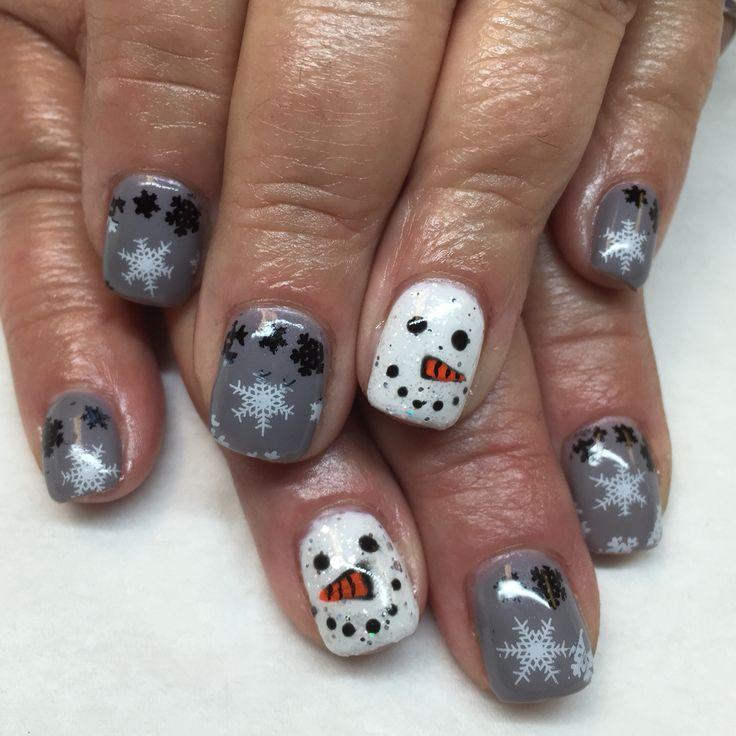 Snowflakes and snowman Christmas