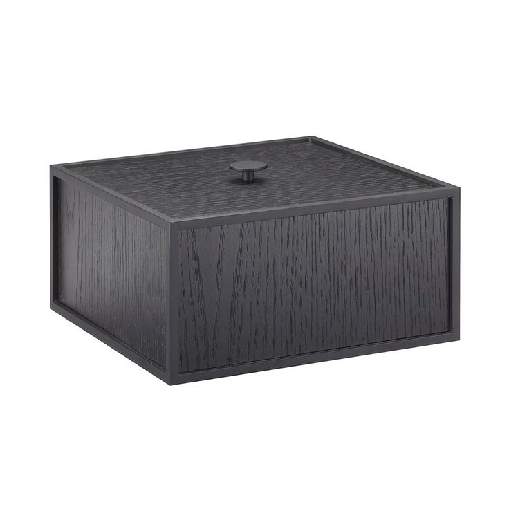 By Lassen Frame 20cm Square Storage Box- Black Stained Ash | Urban Couture - Designer Homewares & Furniture Online