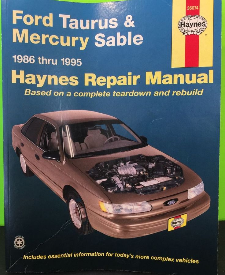 1986 1995 FORD TAURUS/MERCURY SABLE HAYNES REPAIR MANUAL 36074 Collectible