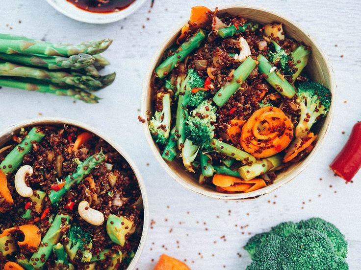 Julia and Libby's Asparagus and Quinoa Stir-fry