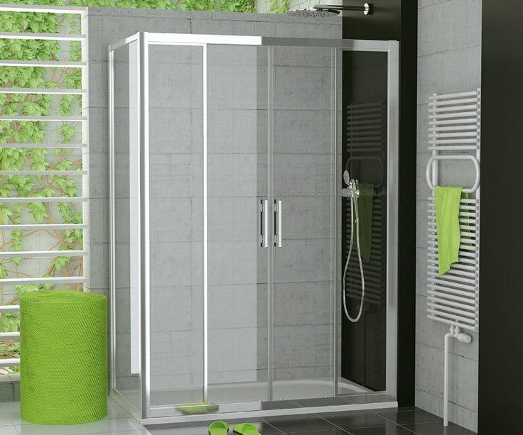 Glaswand Dusche Ma?anfertigung : Dusche Schiebet?r 4-teilig Seitenwand ab 120 x 70 x 190 cm
