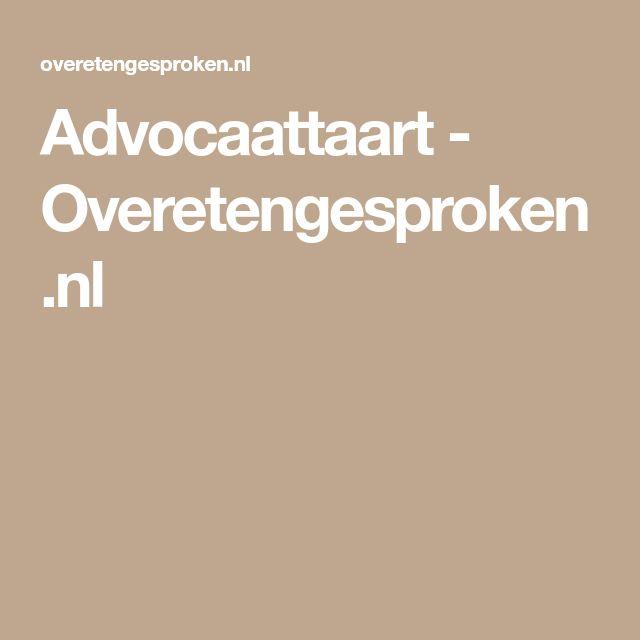 Advocaattaart - Overetengesproken.nl