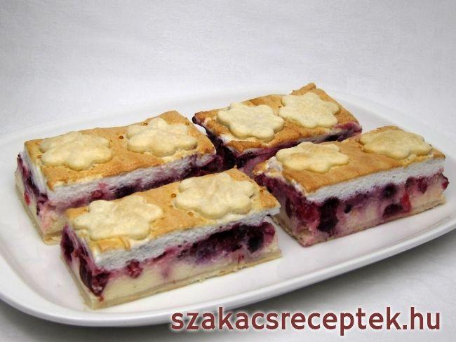 Túrós sütemény gyümölccsel • Recept | szakacsreceptek.hu