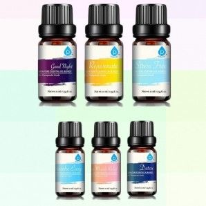 100% Pure Essential Aromatherapy Oils Gift Set - Assorted Styles