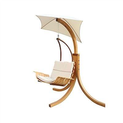 Contemporary Porch Swing Deck Patio Chair with Umbrella