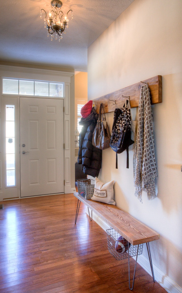 Modern Bench and Coat Rack - exactly what I want in our front entry way.