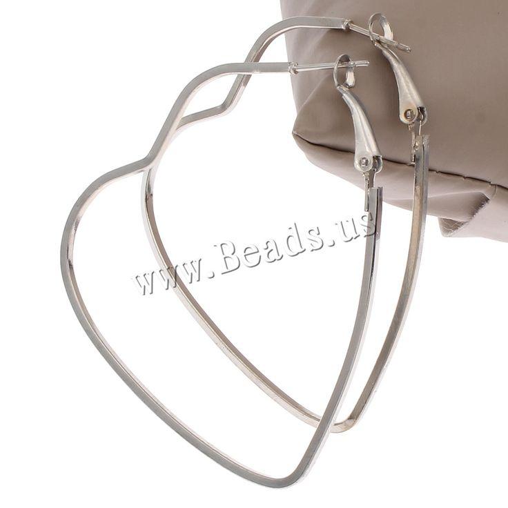 뜨거운 판매 패션 간단한 부드러운 심장 마름모 루프 큰 원 후프 귀걸이 여성 여자 연인 보석 큰 큰 후프 귀걸이
