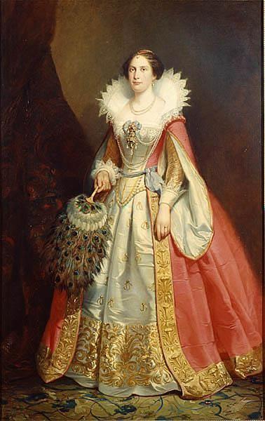 Luisa de los Países Bajos, la reina de Suecia y Noruega por Johan Christoffer Boklund de 1861 Suecia, Nationalmuseum (Estocolmo)