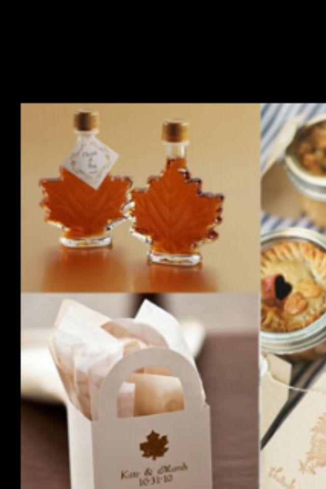 Fall wedding favors!