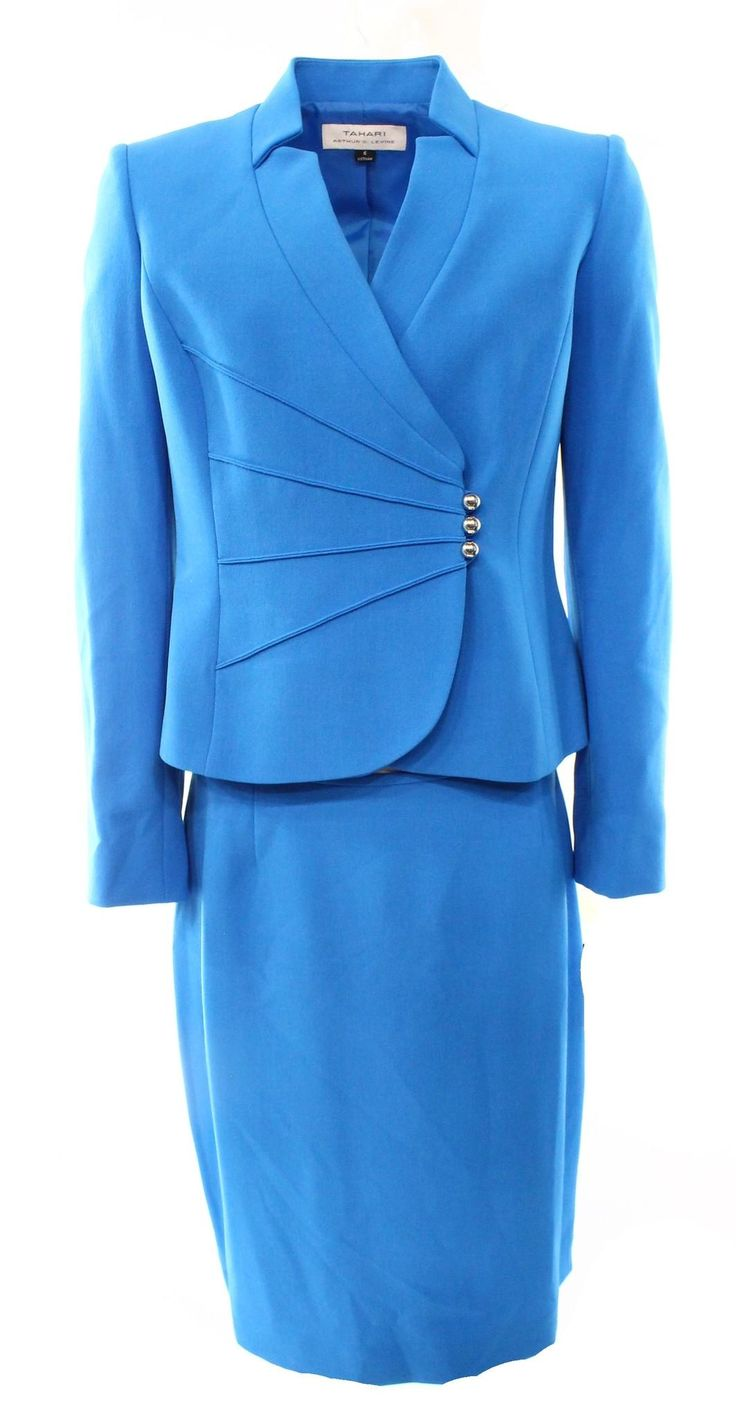 Blue Womens Asymmetrical Jacket Skirt Suit Set 280. Free shipping and guaranteed authenticity on Blue Womens Asymmetrical Jacket Skirt Suit Set 280 at Tradesy. color: bluessize type: regularsize (women's): 18li...