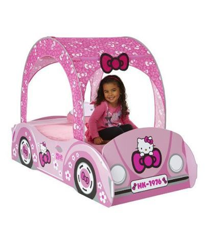 Foto: nuovissimo letto auto hello kitty a soli 349 € spedizione inclusa per maggiori dettagli ecco il link http://www.vivicartoon.com/dettagli.asp?idp=247