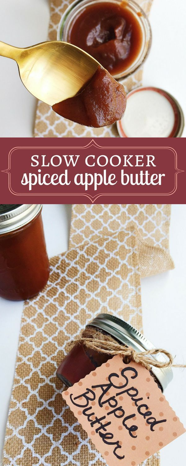 This Apple Butter is scented with warm spices and sweet vanilla bean. Cooking it in the slow cooker is easy and time-saving.