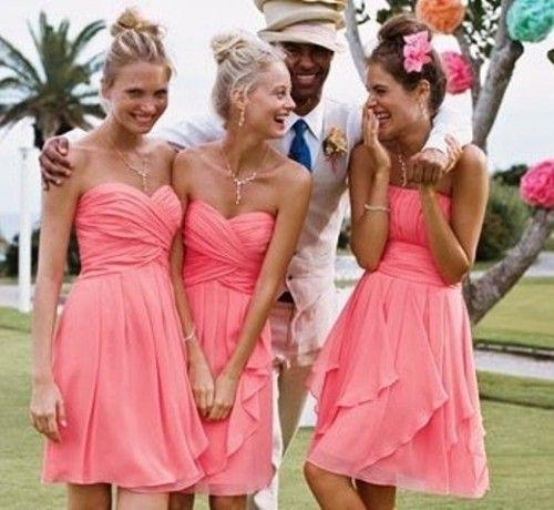 Love the Color! 66 Beautiful Bridesmaids' Dresses For Beach Weddings | Weddingomania