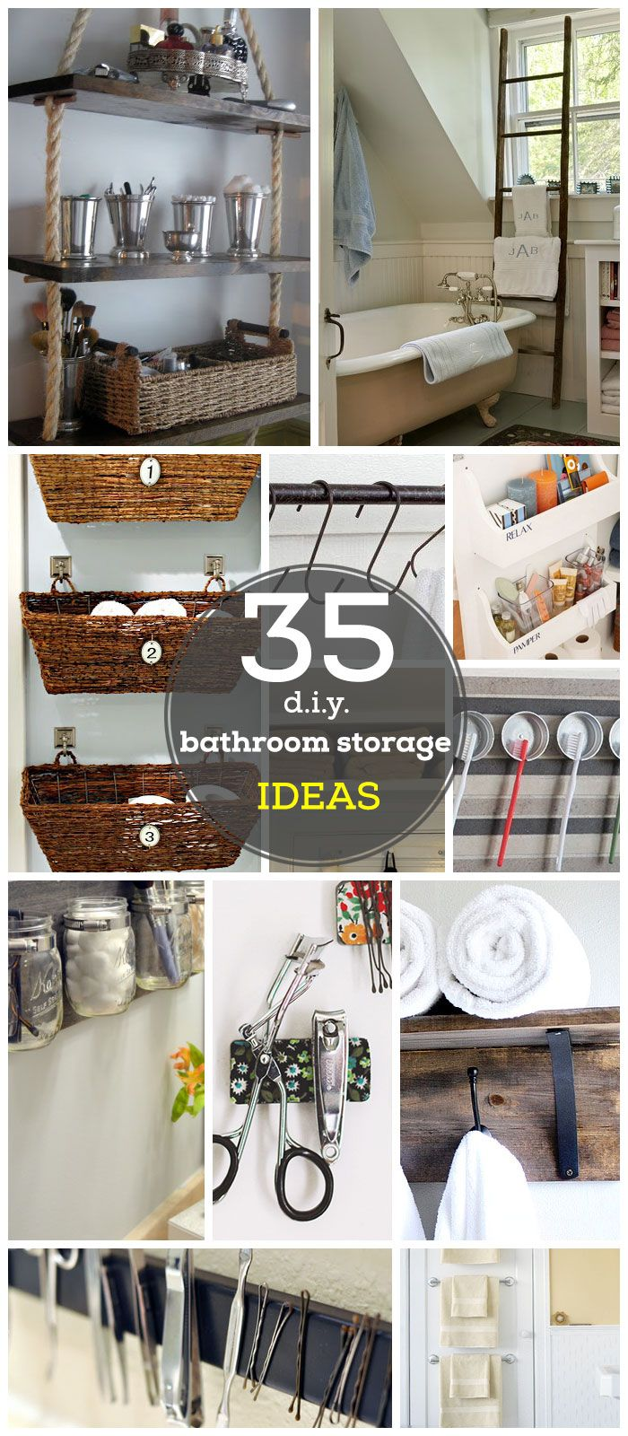 35 DIY Bathroom Storage Ideas on a Budget | DIY Bathroom Organization Ideas