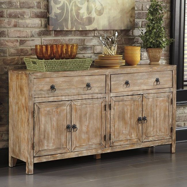 Rustic Accents Cabinet Bisque Home Decor FurnitureDining