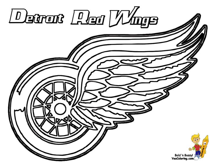 11 detroit red wings hockey at coloring pages book for kids boysnhl coloring pages