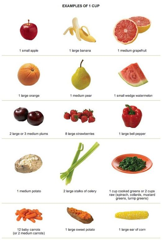 1 cup of fruit chart | Healthy and fit! | Vegetables, Baby ... C Cup Example