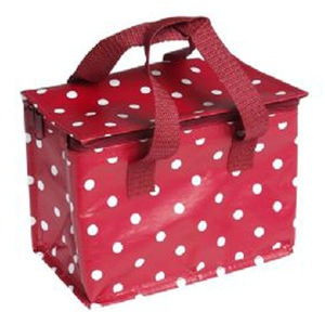 Red Polka Dot Insulated Lunch Bag