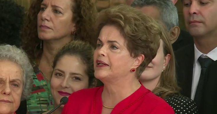 Íntegra do discurso de Dilma após impeachment