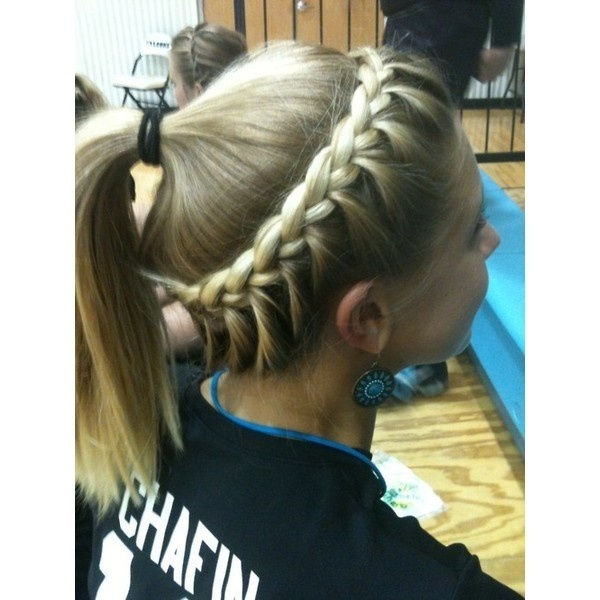 Volleyball hair- so many of my YW love to play vball.