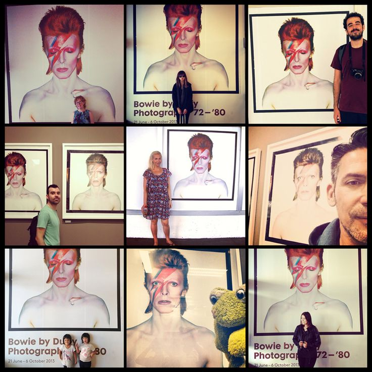 "The ""Aladdin Sane"" photo of the ""Bowie by Duffy"" exhibition in & Foam appeared to be the ideal background for instagram portraits.   We are giving away free Aladdin Sane posters to celebrate the final days of the exhibition, which ends on sunday.   Create your own ""Aladdin Sane Portrait"" on instagram, geotag it with &Foam Conceptstore and show it at the cashier to receive your free poster."