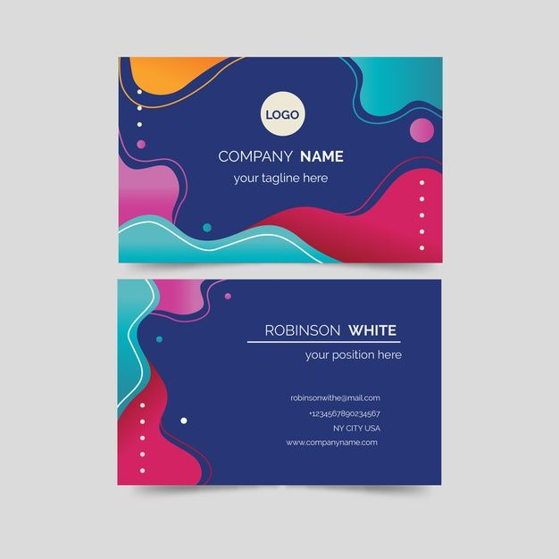 Download Fluid Shapes Colourful Business Card Template For Free Colorful Business Card Free Business Card Templates Business Cards Creative