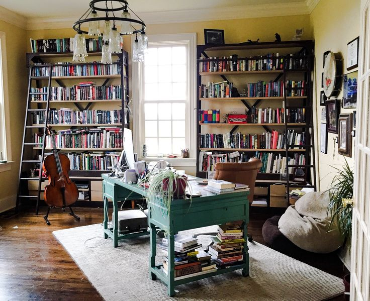 Happy National Book Lovers Day! I'm spending it in my office writing.     My favorite author's office!