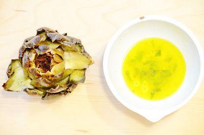 Järnbloggen: Artichoke with vinaigrette