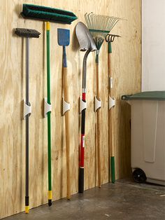 GARDEN SHED ORGANIZATION  PVC Tool Holder EXTREME MOUNTING TAPE TODAY