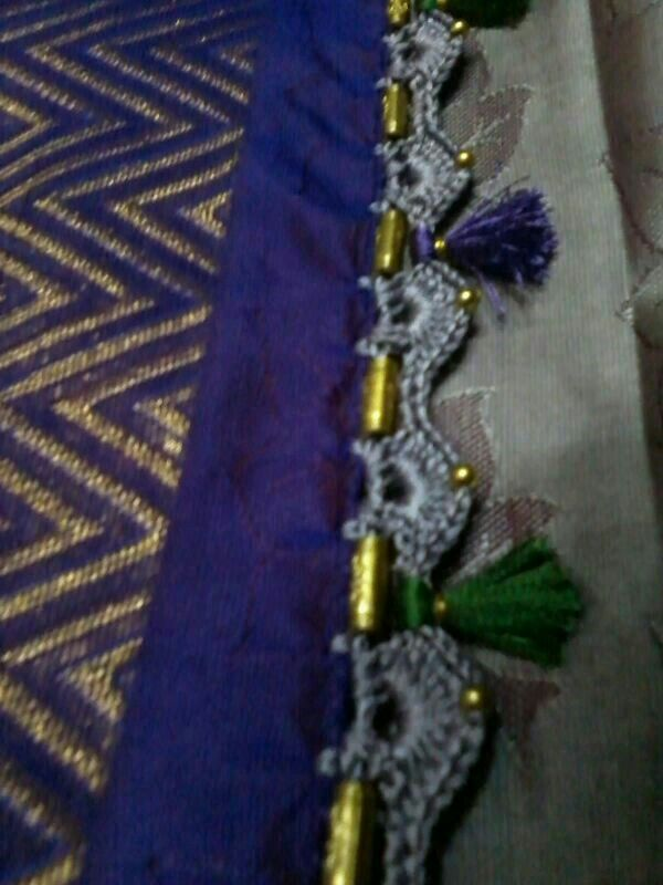 Crochet Lace Patterns For Sarees : 57 best images about Saree tassel on Pinterest Tassels ...