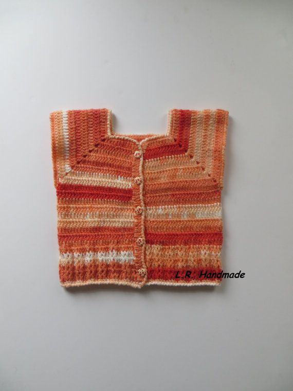 Crochet Girls Vest 3 to 4 years Girls clothes by ladybird113