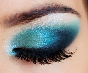 Make up azul, precioso