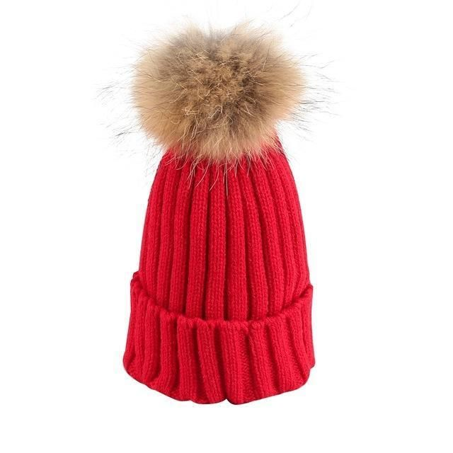 Removable Fur Bobble Hat