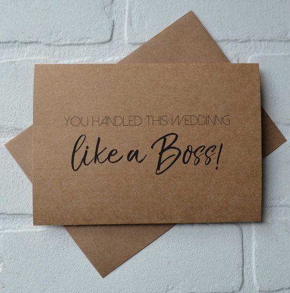like a boss groomsman thank you cards funny groomsman card