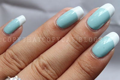 One of my favorites - Blue French Tip
