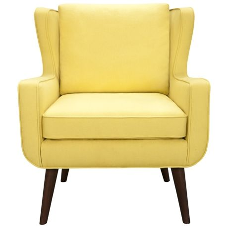 Mustard Yellow Danish Wing Chair Loving The Curved Arms