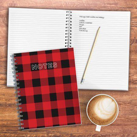 Buffalo Plaid Spiral Lined Journal Notebook - Walmart.com