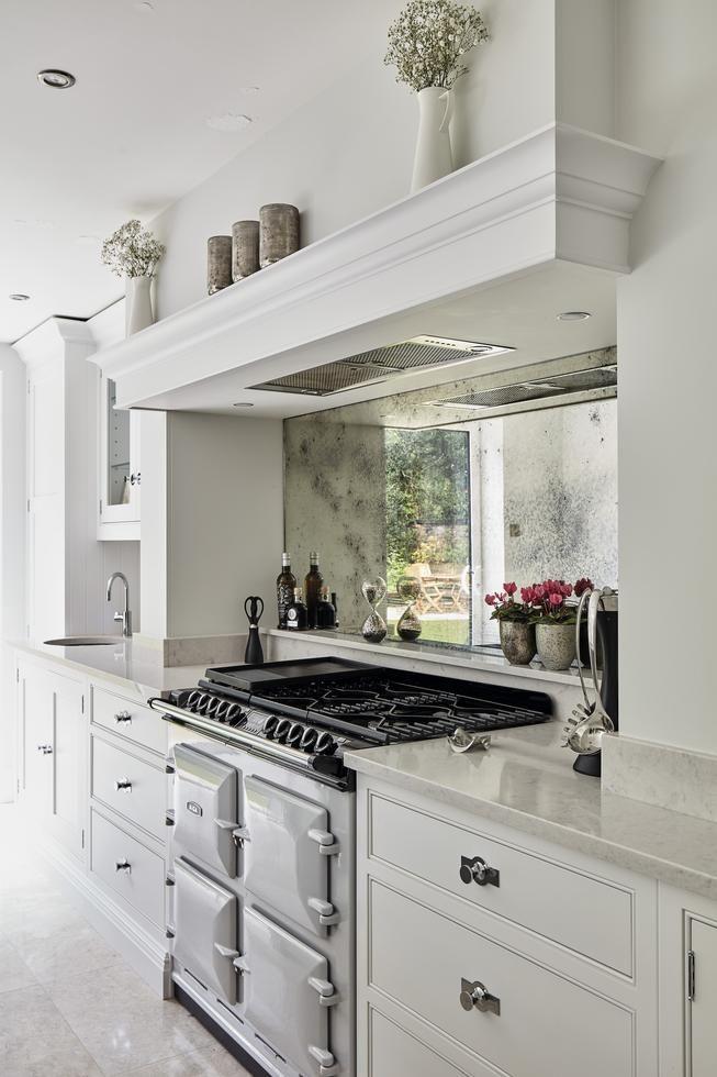 Vintage Toughened Aga Antique Mirror Splashback Kitchen