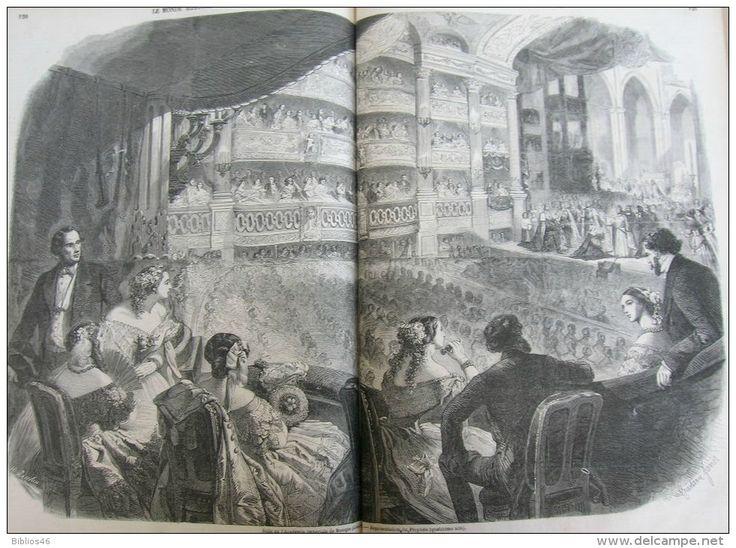 N°45MONDE 1858:LUCON ORGUE /CANTON Ile D´HONAN/Theatre De L´ODEON/ANVERS/NICE AQUARIUM VILLA PIERLAS/ACADEMI - Kranten