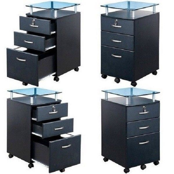 Innovative Rolling Utility Drawer File Cart Cabinet Hanging Folder Storage