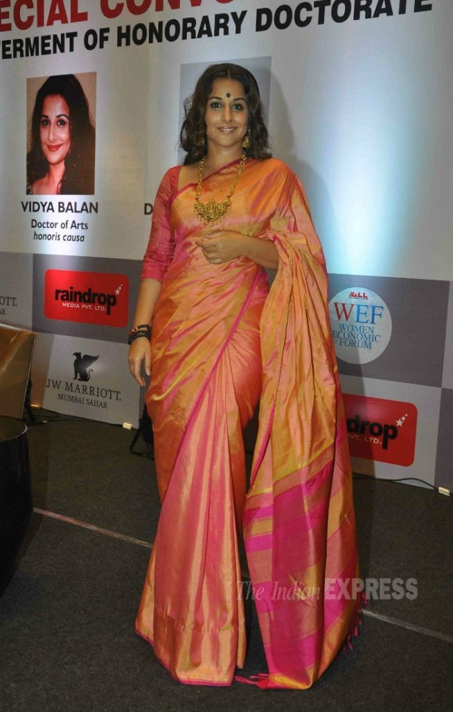 Vidya Balan got a Doctor of Arts Honoris Causa degree from an Ahmedabad-based institute. #Bollywood #Fashion #Style #Beauty